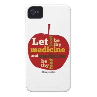 Deje la comida ser thy medicina APPLE Funda Para iPhone 4