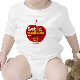 Deje la comida ser thy medicina APPLE Trajes De Bebé