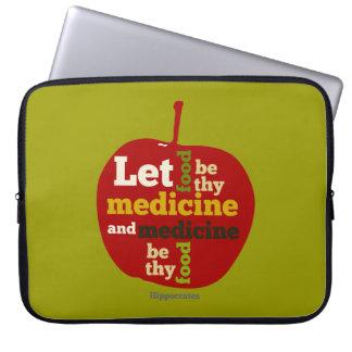 Deje la comida ser thy medicina… Hipócrates Funda Portátil