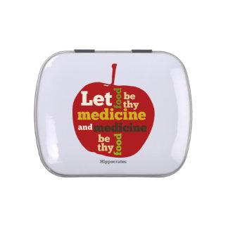 Deje la comida ser thy medicina… Hipócrates Jarrones De Caramelos