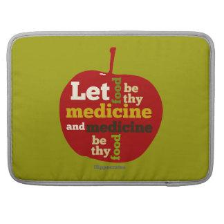 Deje la comida ser thy medicina… Hipócrates Funda Macbook Pro