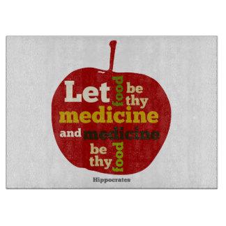 Deje la comida ser thy medicina y la medicina sea tabla para cortar