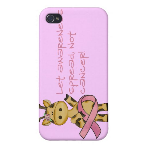 Deje la conciencia separar no el cáncer iPhone 4/4S funda