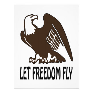 Deje la mosca de la libertad membrete
