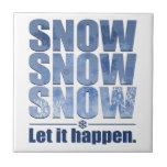 Deje la nieve suceder azulejos ceramicos