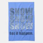 Deje la nieve suceder toallas de mano
