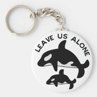 Deje la orca llavero redondo tipo pin