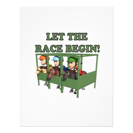 Deje la raza comenzar flyer a todo color