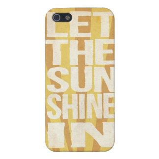 Deje la sol adentro iPhone 5 funda