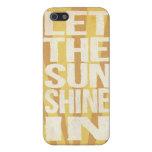 Deje la sol adentro iPhone 5 protectores