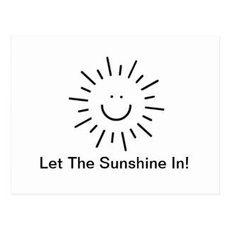 ¡Deje la sol adentro! Postales