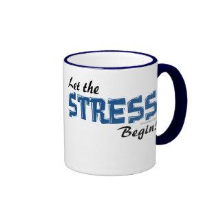 Deje la tensión comenzar taza de café