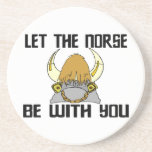 Deje los nórdises estar con usted posavasos cerveza