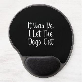 Dejé los perros hacia fuera alfombrilla con gel
