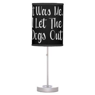 Dejé los perros hacia fuera