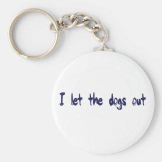 Dejé los perros hacia fuera llaveros personalizados