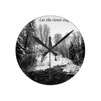 Deje los ríos aplauden sus manos relojes
