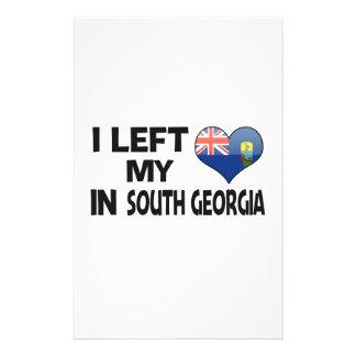Dejé mi amor en Georgia del sur Papeleria
