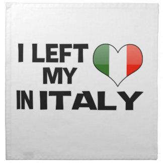 Dejé mi amor en Italia Servilleta Imprimida