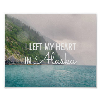 Dejé mi corazón - Alaska poster costero del