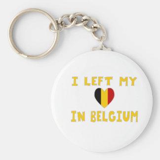 Dejé mi corazón en Bélgica Llaveros
