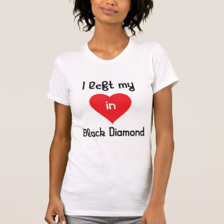 Dejé mi corazón en diamante negro camisetas