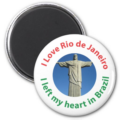 Dejé mi corazón en el Brasil - amor Río de Janeiro Imán