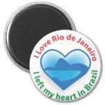Dejé mi corazón en el Brasil - amor Río de Janeiro Imán Para Frigorifico