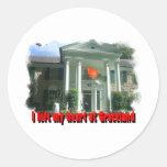 Dejé mi corazón en Graceland Etiquetas Redondas