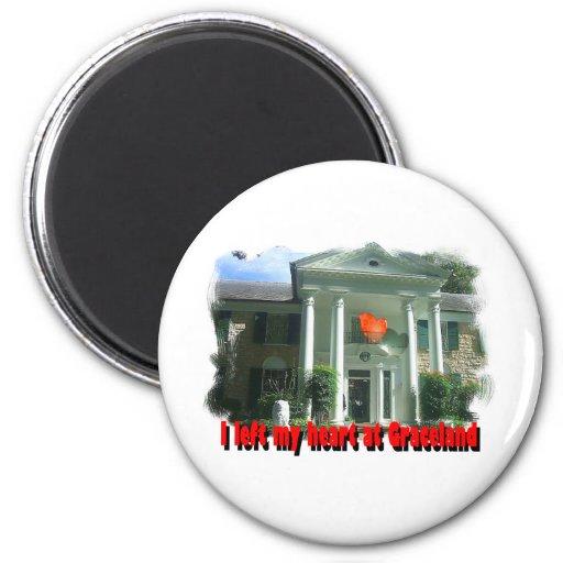 Dejé mi corazón en Graceland Iman Para Frigorífico
