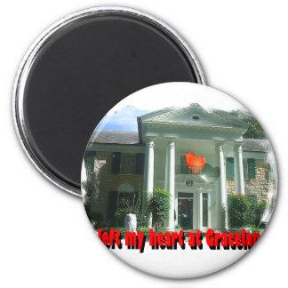 Dejé mi corazón en Graceland Imán Redondo 5 Cm