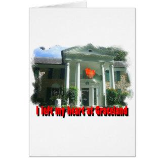 Dejé mi corazón en Graceland Tarjeta De Felicitación