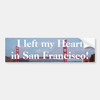 Dejé mi corazón en la pegatina para el parachoques etiqueta de parachoque