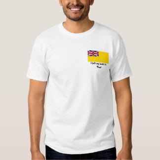 ¡Dejé mi corazón en Niue! Camiseta Polera
