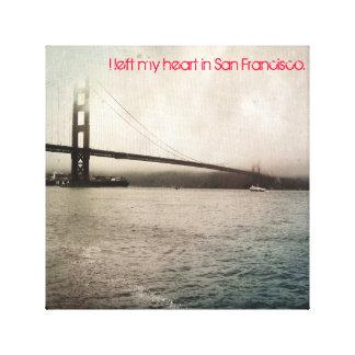 Dejé mi corazón en San Francisco Impresión En Lienzo Estirada