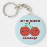 ¡Deje nos reunirse y la salsa de tomate! Tomates d Llaveros
