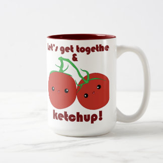 ¡Deje nos reunirse y la salsa de tomate! Tomates d Tazas De Café