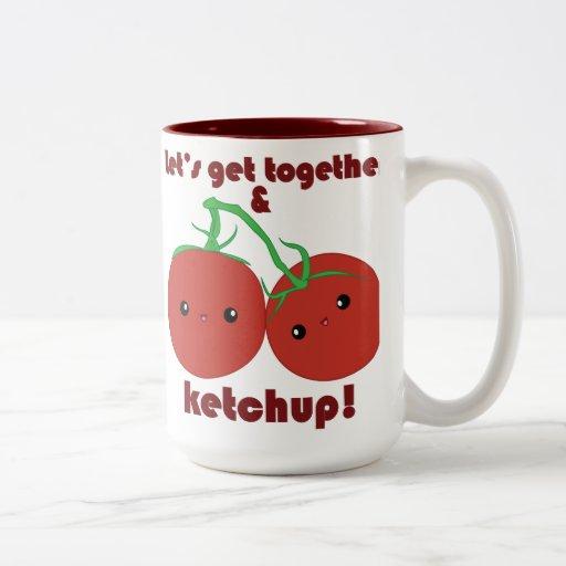 ¡Deje nos reunirse y la salsa de tomate! Tomates d Taza Dos Tonos