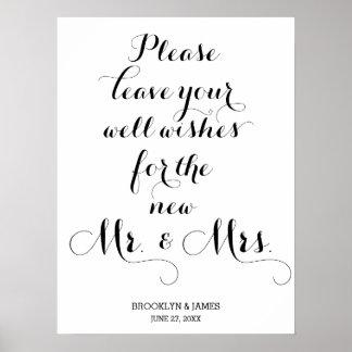Deje por favor sus deseos bien que casan la póster