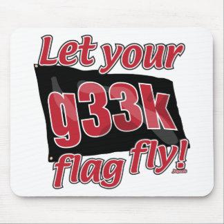 ¡Deje su bandera de g33k volar! Tapete De Ratones