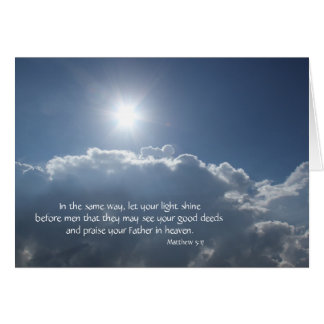 Deje su brillo ligero; ¡Cielos arriba! Tarjeta De Felicitación