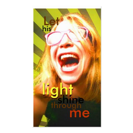 Deje su brillo ligero tarjetas de visita