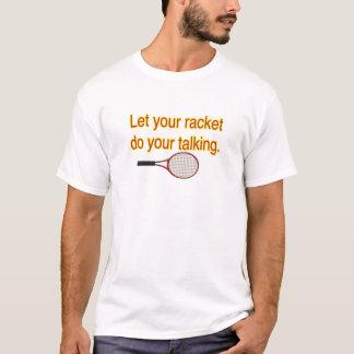Deje su camiseta de la charla de la estafa