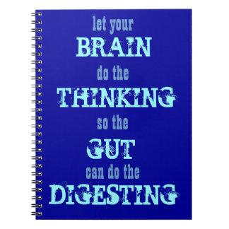 Deje su cerebro pensar el cuaderno