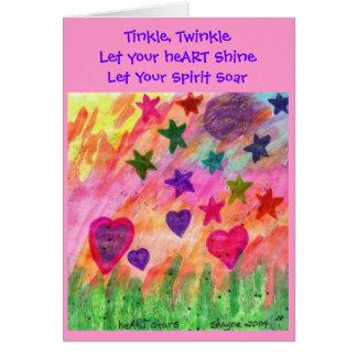 Deje su corazón brillar tarjeta de felicitación