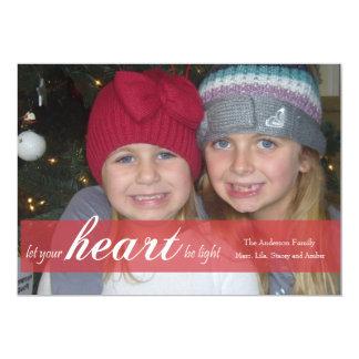 Deje su corazón ser tarjeta ligera de la foto de anuncios