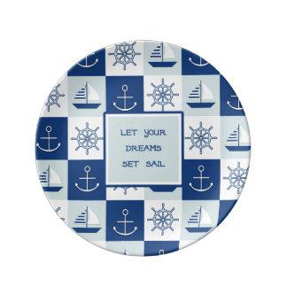 Deje su vela fijada los sueños platos de cerámica