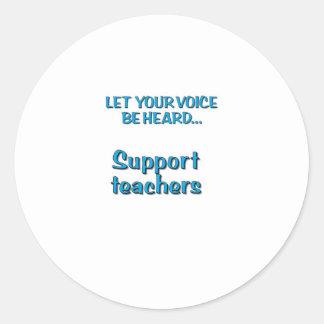 Deje su voz ser… profesores oídos de la ayuda pegatina redonda