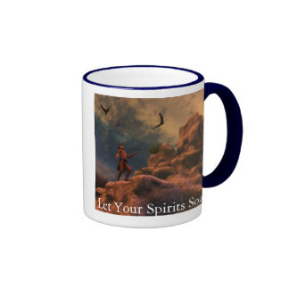 Deje sus bebidas espirituosas elevarse taza de café