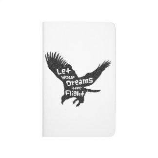 Deje sus sueños tomar a vuelo Eagle Grunge negro Cuadernos Grapados